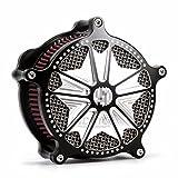 Filtro de aire negro estilo llama Harley sportster contraste corte filtro de aire para Harley Davidson XL Sportster 1991-2014 2013