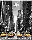 Phinli Jigsaw Puzzle 1000 Piezas 3D Puzzle New York Yellow Taxi Cabs Kits para Adultos DIY 75X50Cm