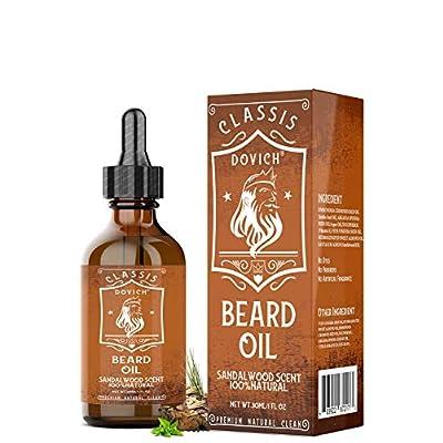 DOVICH Beard Grooming Oil For Beard Mustache Ma...