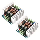 D-FLIFE 2pcs 20A 300W CC CV Step Down Module Adjustable DC 6-40V to 1.2-36V Voltage Regulator Buck Converter Constant Current Power Supply Module