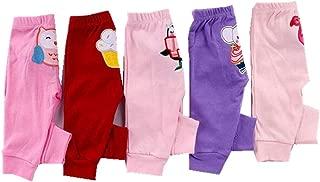 Alsmiley Unisex Baby 5-Pack Long Pants Newborn to Toddler Cotton Shorts Gift Set