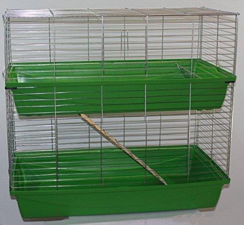 Heimtiercenter XXL 1m doppel Hasenkäfig Meerschweinchenkäfig grün