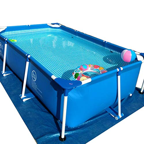 Gran Piscina con Soportes de Familia por Encima de Tierra de la Piscina de los niños y los Adultos Pueden Nadar y Cubierta de Suelo Libre de Tela y Piscina Juguetes (Size : 2.6 * 1.6 * 0.65m)