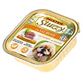 Stuzzy mister, comida húmeda para perros adultos, sabor salmón, paté y carne en trozos - total 3,3 kg (22 tarrinas x 150 gr)