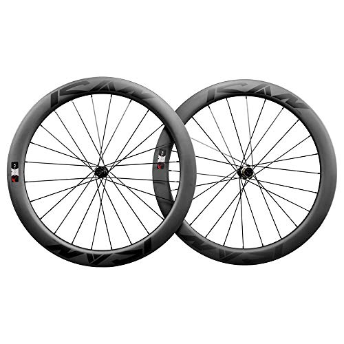 ICAN Ruedas de Disco BD55 700C Clincher Tubeless Ready Freno de Disco Centerlock 12x100/12x142mm 1750g