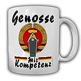 Tasse DDR Volkspolizei Unterwachtmeister Genosse mit Kompetenz Schulterstücke Police #24178