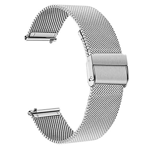 Correa de reloj de pulsera de malla de liberación rápida de 18 mm 0 mm Mm compatible con Samsung Galaxy Watch Active 40 mm 44 mm Pulsera compatible con Huawei Watch GT