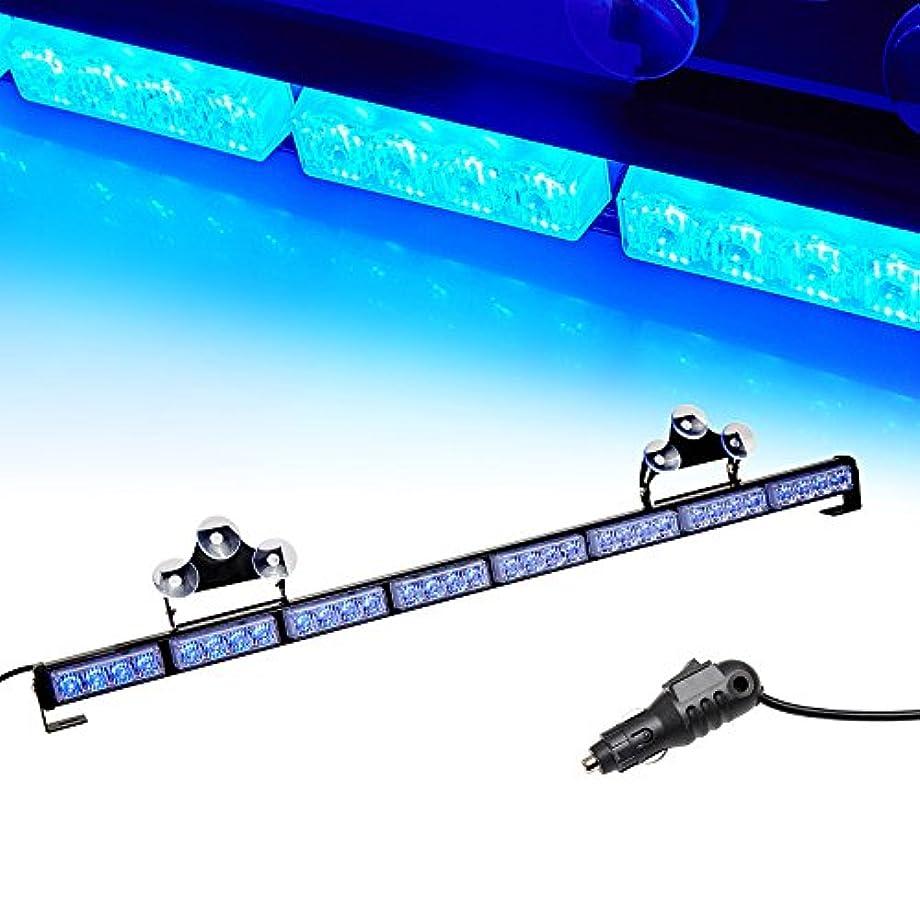 V-SEK LED Hazard Emergency Warning Tow Traffic Advisor Flash Strobe Light Bar with Cigar Lighter and Suction Cups (35.5