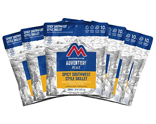 Mountain House Spicy Southwest Style Skillet | Freeze Dried Backpacking & Camping Food | 6-Pack | Gluten-Free