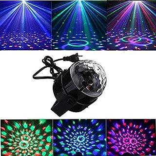 Elegdy Led Crystal Rotating Remote Party Lights Strobe Dance Light DJ Lights Mini RGB LED Magic Christmas Party (Size : EU)