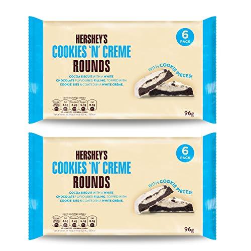 Hersheys Cookies n Creme Rounds Kekse, Kakaogebäck, Schokokekse, Cookies, 2 x 96 g, 1038000