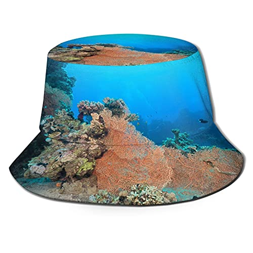 The Aquatic Life Unisex Casual Bucket Sun Hat Fisherman Cap for Fishing Hiking Camping