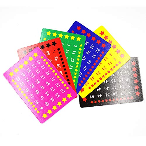 OUERMAMA Six Gimmick Number Cards Professional Magic Tricks Easy Card Magic Props Fun Illusion Cards Magic Mentalism Card Tricks for Halloween, Birthday Party, Christmas, School Show