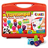 CRAZE- Timbro 26 Bambini Set di francobolli Animali Inclusi cartoncino in Una Custodia-Inc...