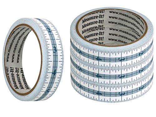 Measure-It 48 Inch Self-Adhesive Measuring Tape - 4 Pack
