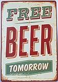 Free Beer Tomorrow bei Pub Bar Vintage Style Wand Decor Blechschild 30,5x 20,3cm Zoll, eine zweiseitige Postkarte Made, smiel kaufen, ist im Lieferumfang enthalten