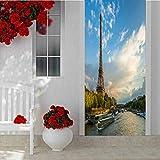Door Stickers Door Decal 3D Decor Door Mural, Zodiac Wheel Astrology Natal Chart Cartoon Vector, Peel and Stick Vinyl Door Mural Decals for Home Decor W15 x L78.7 Inch