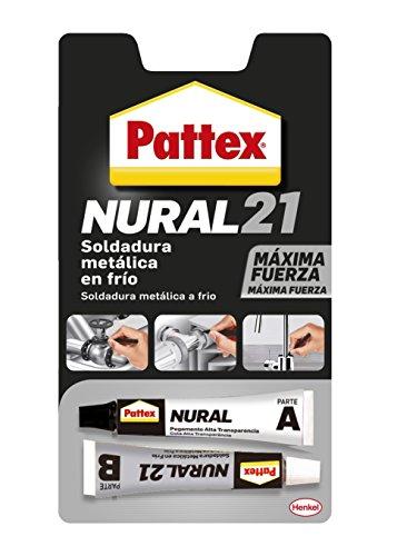 Pattex Nural 21, soldadura reparadora metálica en frío, pega&repara, 22...