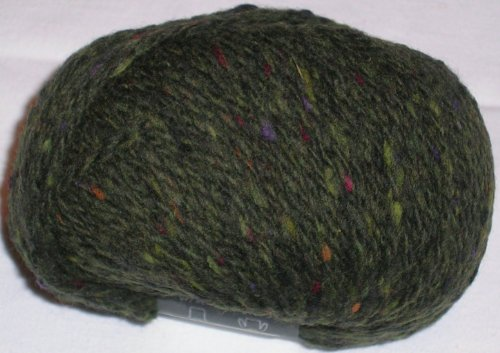 Schulana Donegal-Tweed in tannengrün