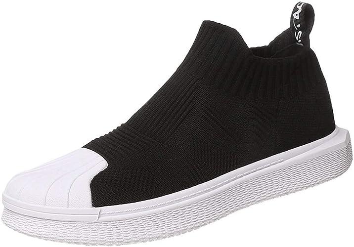 Hong Jie Yuan Chaussures pour Femmes Chaussures d'été pour Hommes avec Chaussures de Sport Sauvages (Couleur   noir, Taille   US7 EU39 UK5 CN39)