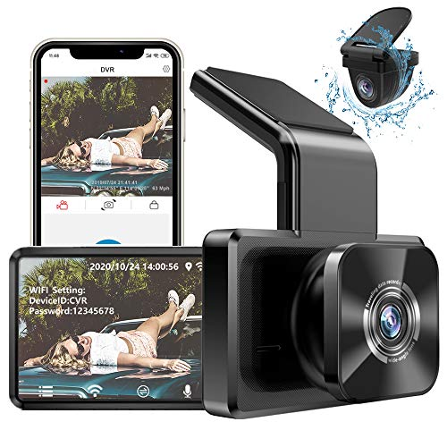 AUTOWOEL Dash Cam Built in WiFi GPS