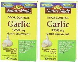 Nature Made气味控制大蒜,1250毫克 - 2盒 每盒100片