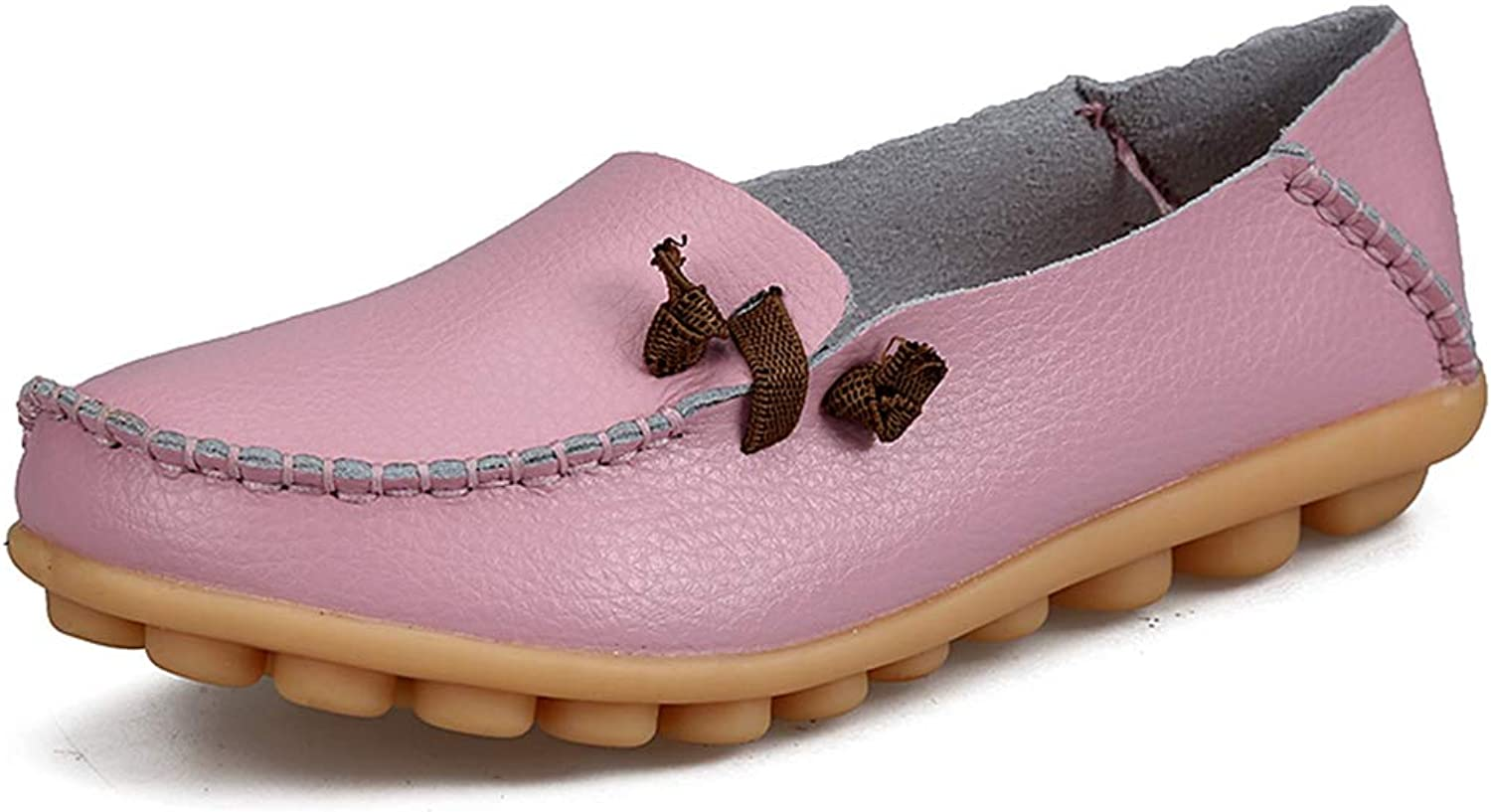 T-JULY Spring Women Leather Ballet Flats Driving shoes Slip On Moccasins Loafers Ballerina Casual shoes