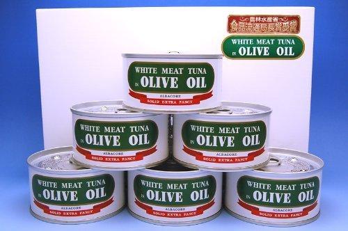 由比缶詰所 熟成まぐろオリーブ油漬 ファンシーEO2号缶 175g×6缶セット