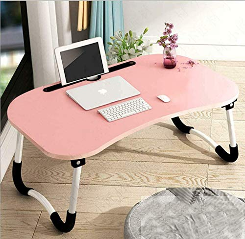 Laptop Bed Table Lap Desk, Foldable Lap Stand, Lap Tablet with Slot, Bed Tray Laptop Desk for Eating Breakfast, Bed Tray Laptop Desk Notebook Stand Reading Holder for Couch Floor Kid (23.6 x 15.7in)