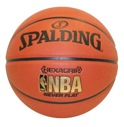 Save %28 Now! Spalding NeverFlat NBA Hexagrip Indoor/Outdoor Basketball, 29.5-Inch