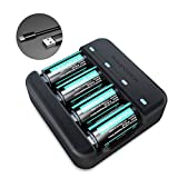 RAVPower CR123A Lithium Batteries Charger Set [Can be recharged,8 Pack] 700mAh Protected Batteries for Arlo Security Wireless Cameras VMC3030 VMK3200 VMS3330 3430 3530 Microphone Flashlight Polaroid