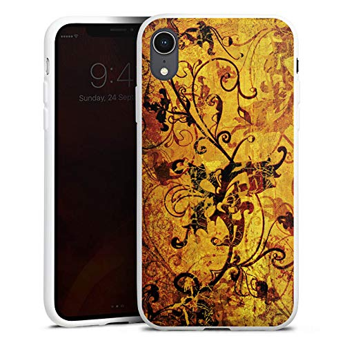 DeinDesign Silikon Hülle kompatibel mit Apple iPhone Xr Hülle Schutzhülle Ornament Blumen Flowers