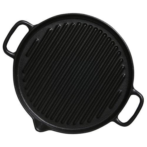 Chasseur PUC3371001 Gril rond-23 cm-Noir mat fonte émaillée