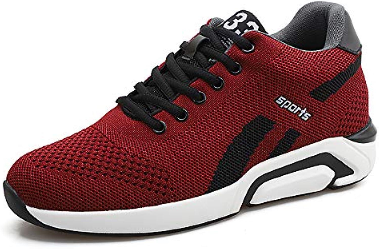 LOVDRAM Men's shoes Spring New Men'S Korean Fashion Sports shoes Increased 6Cm Casual Lace Men'S shoes Mesh Tide shoes