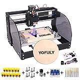 【Upgrade Version】CNC 3018 Pro-M GRBL Control DIY CNC Router Machine, Yofuly 2500mW Laser Engraver 3 Axis PCB PVC...