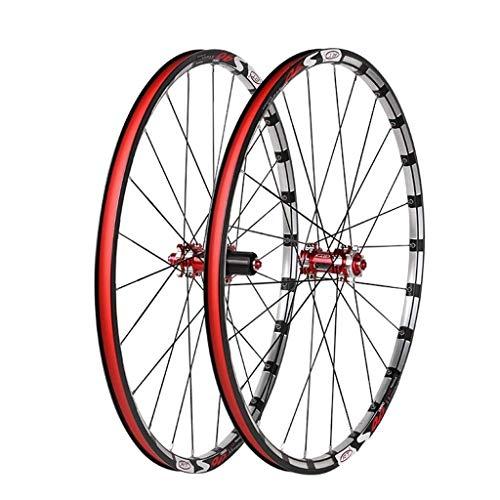 ZHTY Ruedas traseras Delanteras de Bicicleta 26 Juego de Ruedas de Bicicleta MTB de 27.5 Pulgadas Bujes de Fibra de Carbono Freno de Disco con liberación rápida 7 8 9 1011 Velocidad