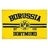 Borussia Dortmund, BVB-Hissfahne, Schwarz/gelb, 150x100cm