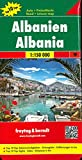 Albanien, Autokarte 1:150.000, Top 10 Tips, freytag & berndt Auto + Freizeitkarten