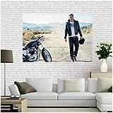 KONGQTE Channing Tatum Poster und Drucke Wandkunst Poster