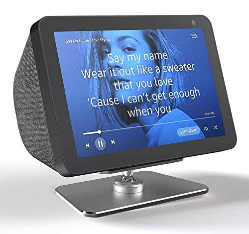 Echo Show 8 soportes, VMEI Soporte de metal ajustable para Echo Show 8, Tilt Echo Show 8 pantalla hacia arriba y abajo. (aluminio gris)