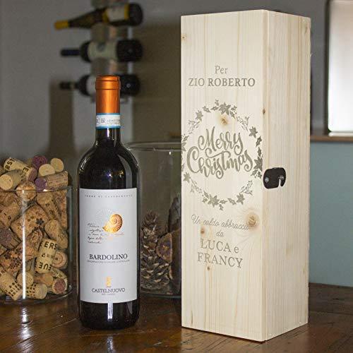 BPAPER CASSETTINA Porta Vino Personalizzabile Idea Auguri Natale 300.048
