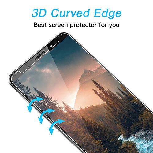 POOPHUNS Panzerglas Schutzfolie für Huawei Mate 10 Pro, [2 Stück] 9H Härte Panzerglas Folie [kompatibel 3D-Touch] [Blasenfreie] [Anti-Kratzen] [Anti-Öl] Displayschutzfolie für Huawei Mate 10 Pro - 3