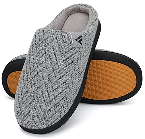 Mishansha Zapatillas de Estar por Casa Hombre Mujer Pantuflas de Invierno Calentitas y Cómodas Zapatillas de Casa Antideslizante Zapatos de Espuma Viscoelastica con Suela Dura, Gris Claro, 48 EU