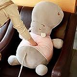 JMHomeDecor Jouets en Peluche 80 Cm Mignon Hippopotame en Peluche Jouets en Coton Doux Hippopotame Poupée Cadeau d'anniversaire pour Les Enfants Sommeil Oreiller Coussin