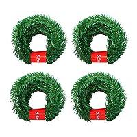 Raten 5.5M クリスマス ガーランド クリスマス飾り クリスマスツリー パーティー装飾藤 クリスマス オーナメント ドア 窓 部屋 玄関 飾り 松の葉 クリスマス用品