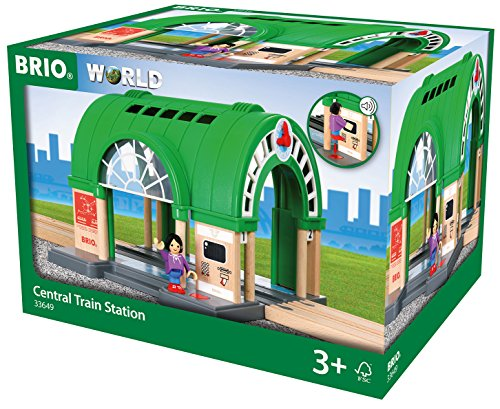 BRIO World Central Train Station for Kids age 3 years and up compatible with all BRIO train sets