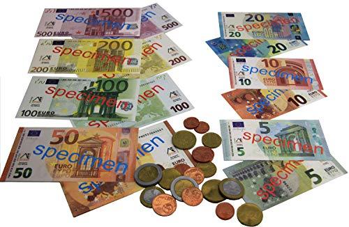 Wissner aktiv lernen 080645.IMP - Euro Spielgeld, 22 Münzen und 22 Scheine im realistischen Design, ideal für Kinder zum Lernen, Rechnen und Spielen für den Kaufmannsladen