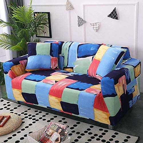 bankhoezen 2-zits, hoes antislip stretchbank, leren bankhoes-watercolor_Three-seater 195-230cm, hoes zitbank stretch