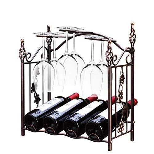 ZAIZAI Estante de Vino de Estilo Retro, Soporte de Copa, Barra de Cocina Multifuncional, Estante de Almacenamiento de exhibición de Copa de Vino, decoración del hogar