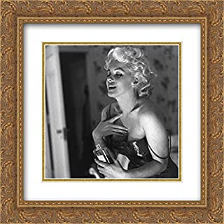 Marilyn Monroe Chanel No. 5 20x20 Double Matted Gold Ornate Framed Movie Star Poster Art Print